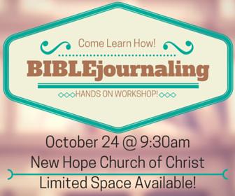 Bible Journaling Workshop!