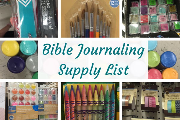 Bible Journaling Workshop Supply List!