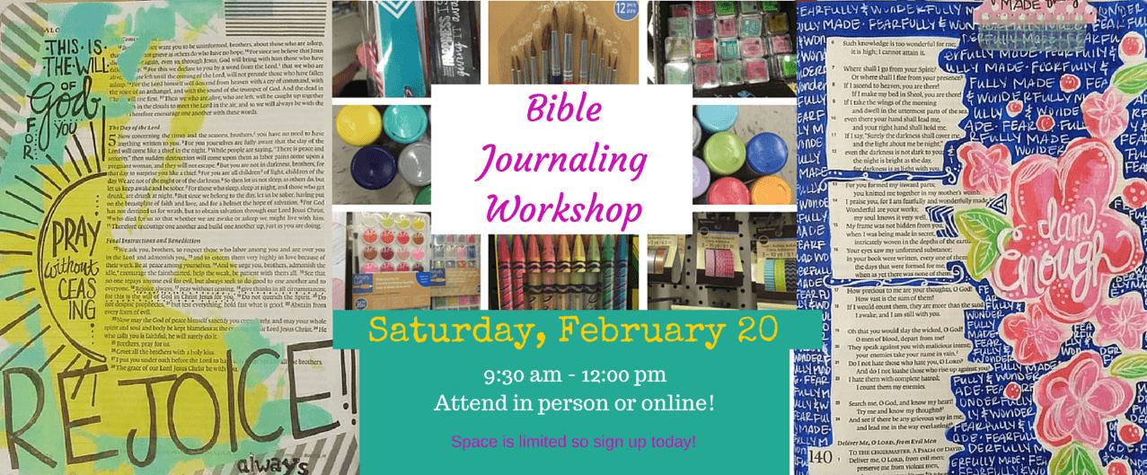 Bible Journaling Workshop #2